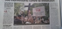 500 manifestants contre la vivisection